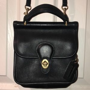 Black Vintage Coach Crossbody w Handle OR Mini Bag
